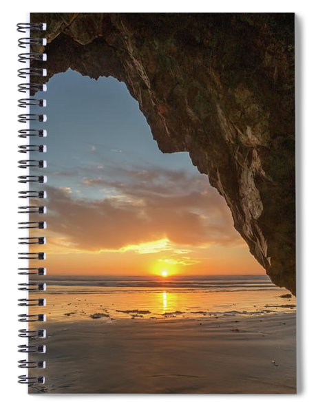 Pismo Caves Sunset Spiral Notebook