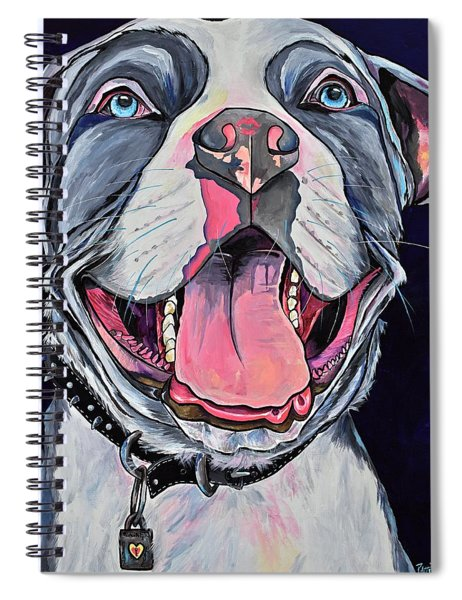 Pit Bull Love Spiral Notebook