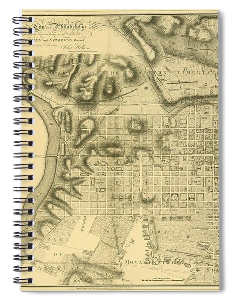Plan Of The City Of Philadelphia And Its Environs Shewing The Improved Parts, 1796 Spiral Notebook