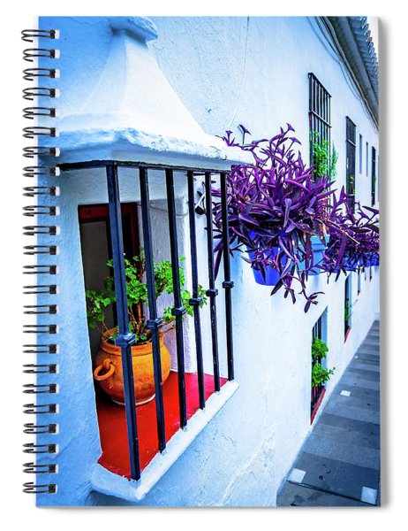 Plants On A Facade Spiral Notebook
