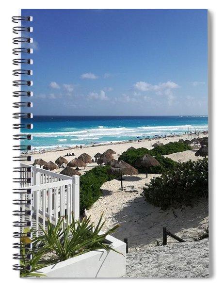 Playa Delfines, Cancun, Mexico Spiral Notebook