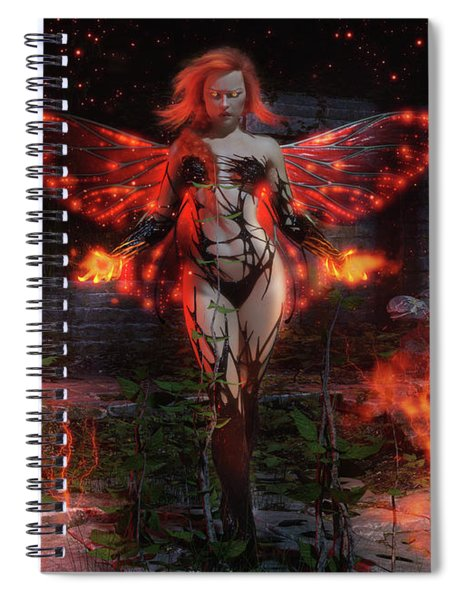 Playing With Fire Spiral Notebook