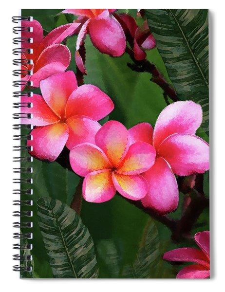 Plumeria Sunrise Spiral Notebook
