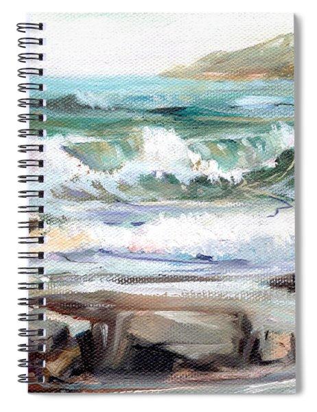 Overlooking Plymouth Beach Spiral Notebook