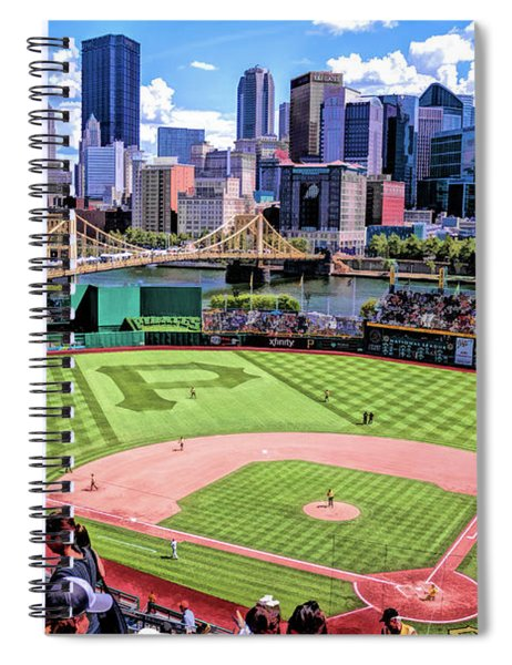 Pnc Park Pittsburgh Pirates Baseball Ballpark Stadium Spiral Notebook