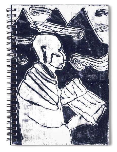 Poet Reading To Wind Clouds Otdv3 13 Spiral Notebook