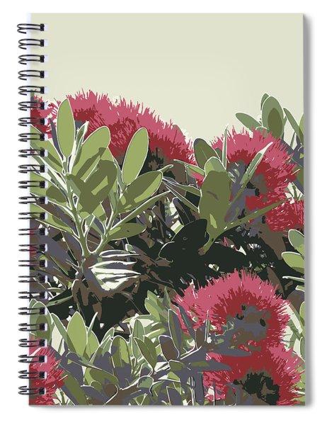 Pohutukawa New Zealand Christmas Tree Spiral Notebook