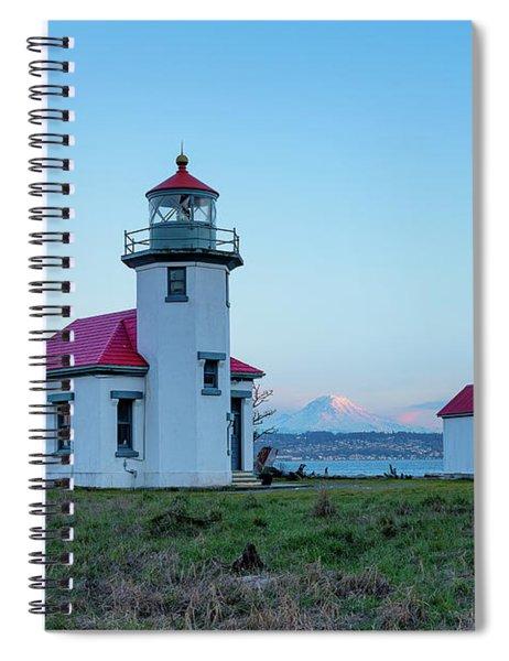 Point Robinson Lighthouse At Maury Island, Wa Spiral Notebook