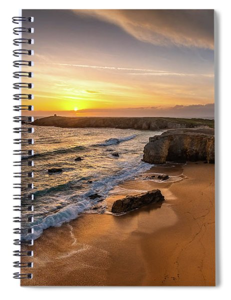 Pointe Du Percho And Port Blanc Spiral Notebook
