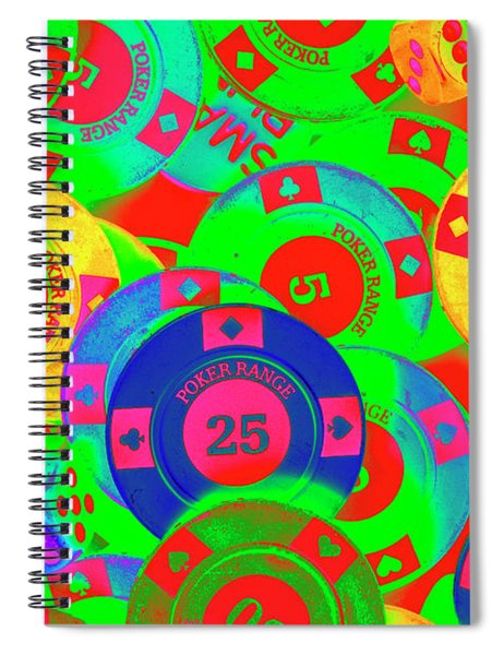 Poker Stacks Spiral Notebook