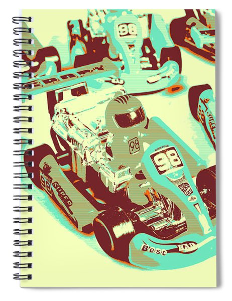 Poll Position Posterized Spiral Notebook