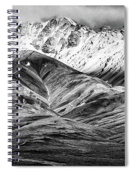 Polychrome Mountain, Denali National Park, Alaska, Bw Spiral Notebook