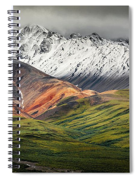 Polychrome Mountain, Denali Np, Alaska Spiral Notebook