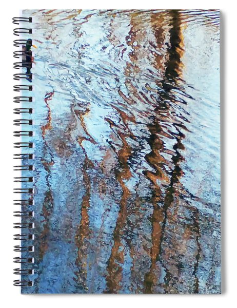 Pond Abstract Plus Duck Spiral Notebook
