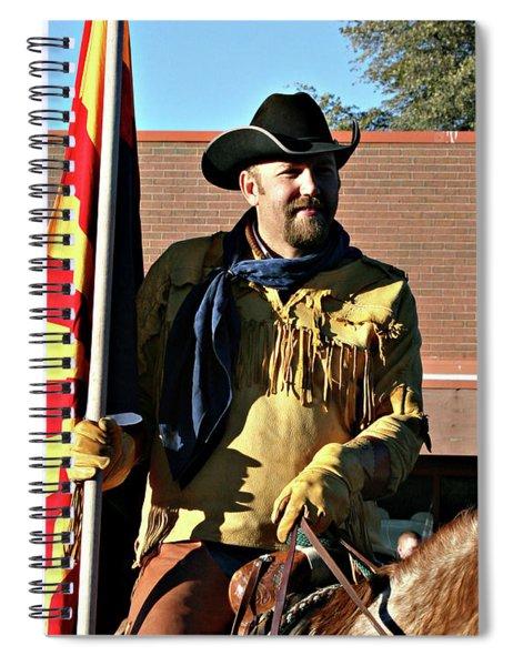 Pony Express Flag Bearer Spiral Notebook