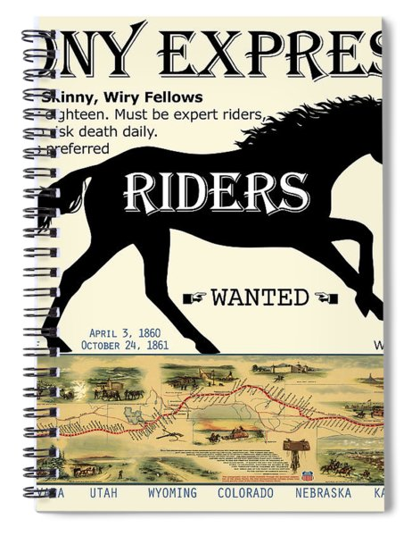 Pony Express Want Ad Spiral Notebook