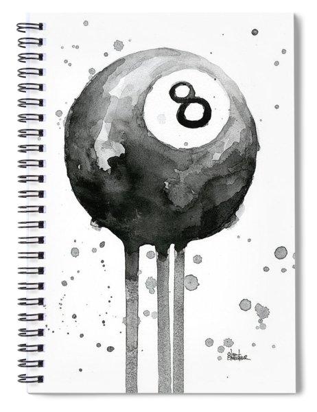 Pool Ball 8-ball Billiards  Spiral Notebook