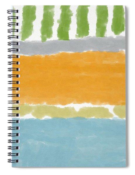 Poolside 1- Art By Linda Woods Spiral Notebook