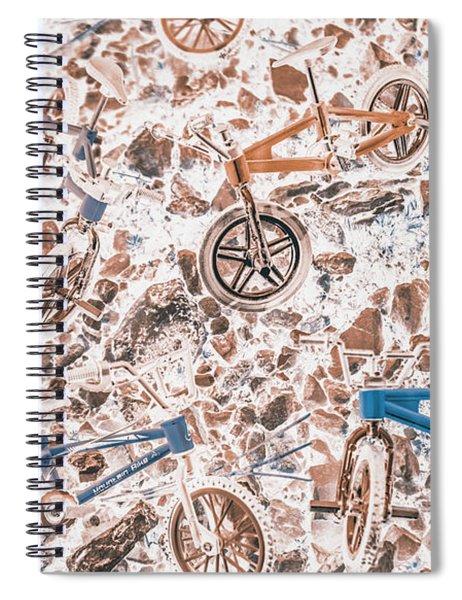 Pop Art Mountain Ride Spiral Notebook