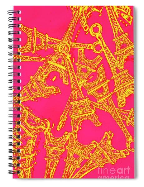 Pop Art Paris Spiral Notebook