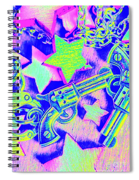 Pop Art Police Spiral Notebook