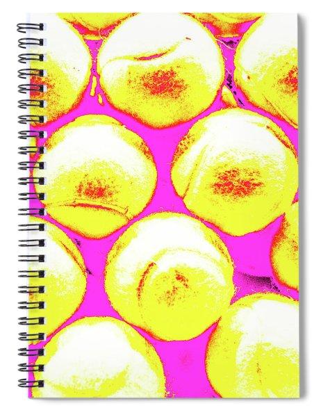 Pop Art Tennis Balls Spiral Notebook