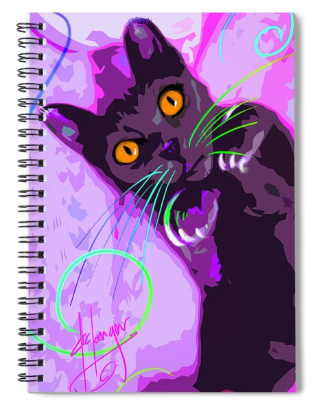 Pop Cat Angel Spiral Notebook