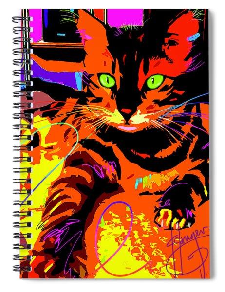 Pop Cat Bengal Spiral Notebook