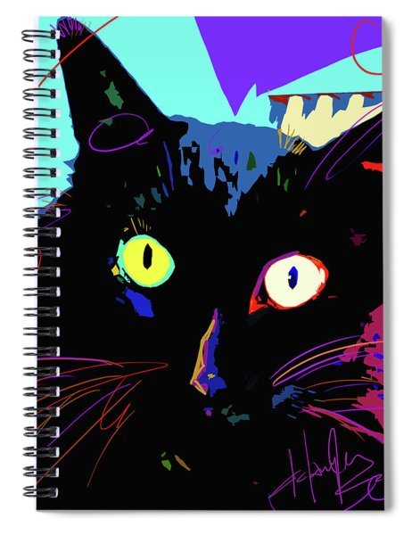 Pop Cat Binx Spiral Notebook