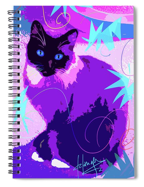 Pop Cat Cocoa Spiral Notebook