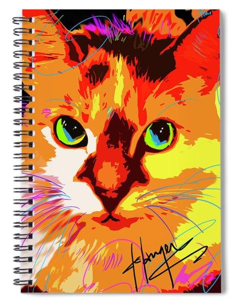 Pop Cat Lily Spiral Notebook