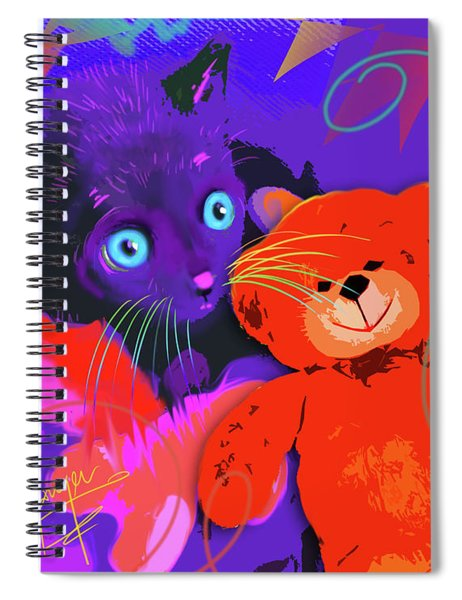 pOp Cat Teddy And His Teddy Spiral Notebook