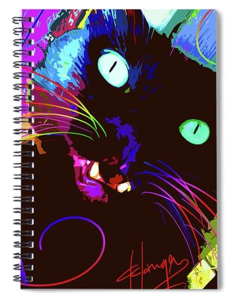 pOp Cat The Tarantula Spiral Notebook
