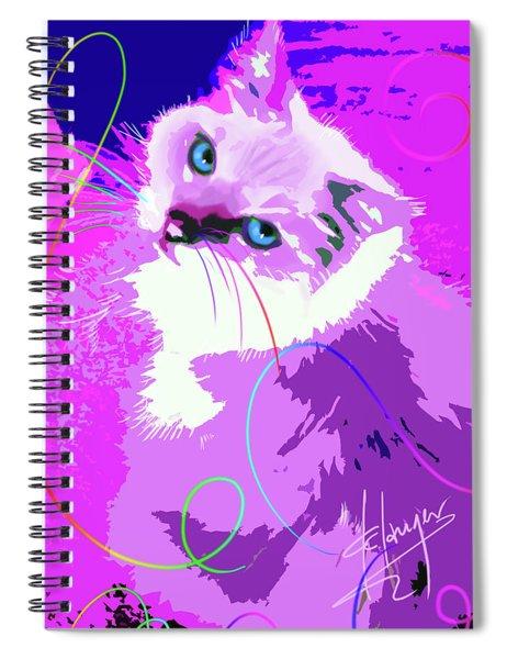 Pop Cat Tiffany Spiral Notebook