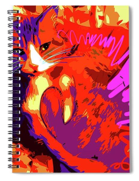 Pop Cat Tiger Spiral Notebook