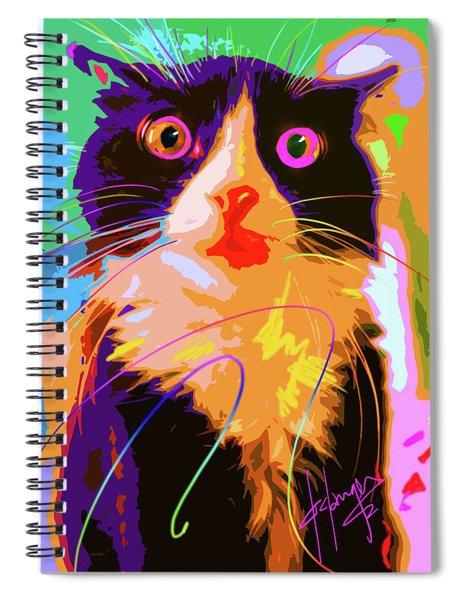 Pop Cat Tux Spiral Notebook