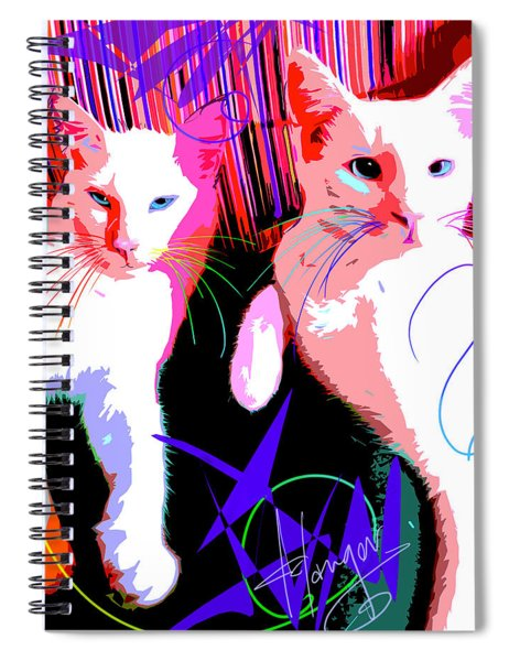 pOp Cats Cheesecake and Cat Stevens Spiral Notebook