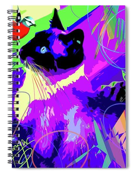 pOpCat and Bird Spiral Notebook