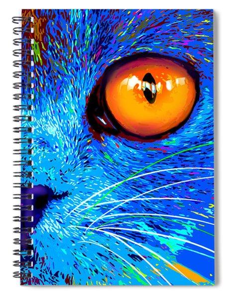 pOpCat Boe - Big Orange Eyes Spiral Notebook