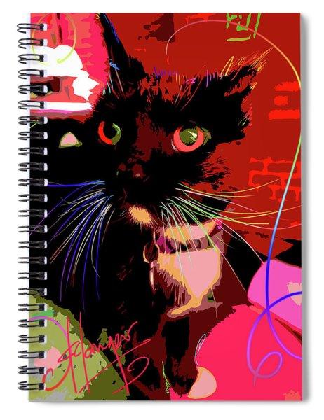 pOpCat Chili Spiral Notebook