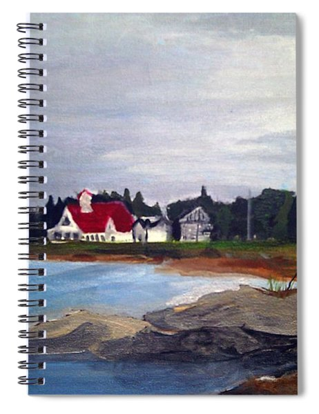 Spiral Notebook featuring the painting Popham Beach, Maine by Samantha Galactica