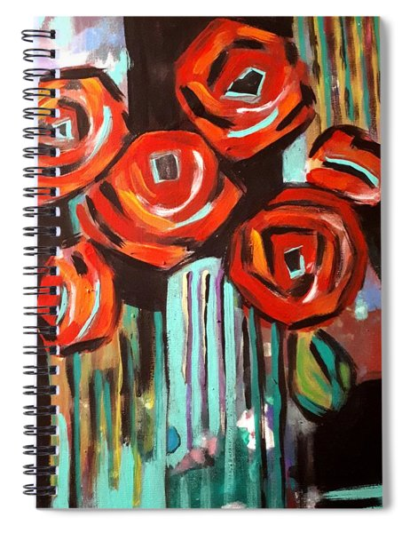 Poppy Abstract Spiral Notebook