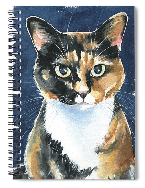 Poppy Calico Cat Painting Spiral Notebook