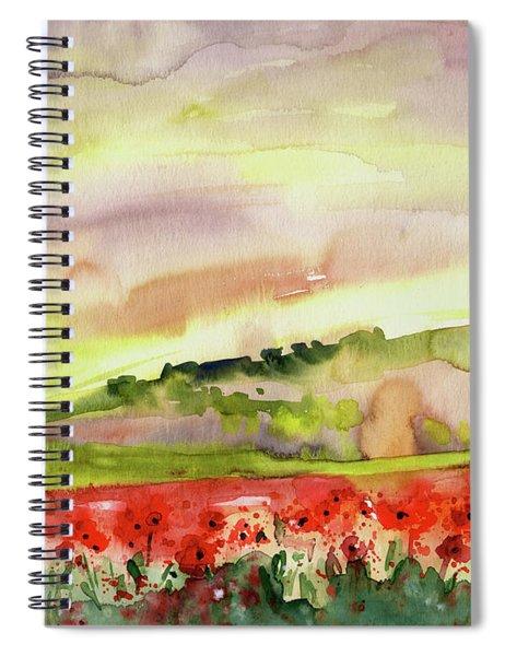 Poppy Field In Spain Spiral Notebook