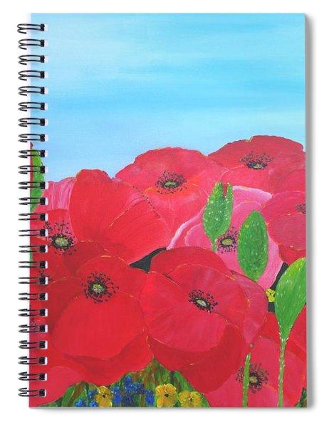 Poppy Parade Spiral Notebook
