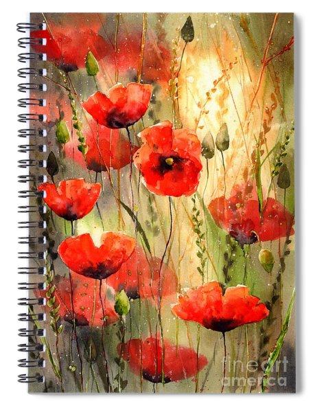 Poppy Serenade Spiral Notebook