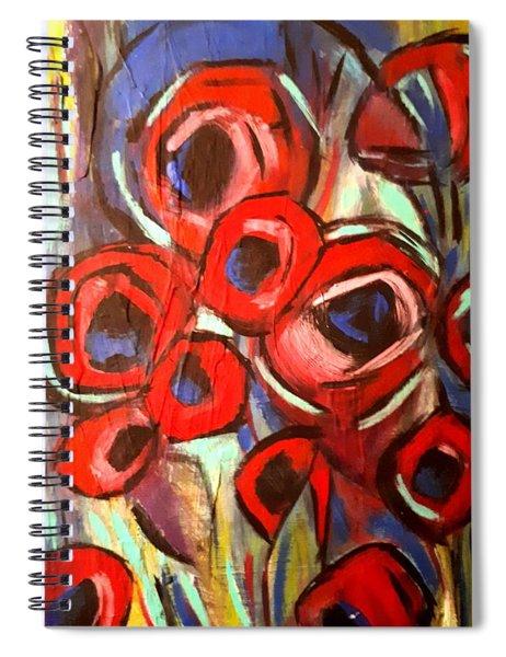 Poppy Wild Spiral Notebook