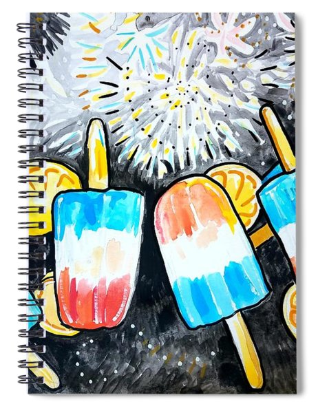 Popsicles And Fireworks Spiral Notebook