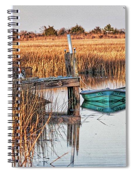 Poquoson Marsh Boat Spiral Notebook