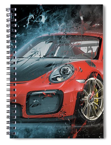 Porsche 911 Gt2 Spiral Notebook